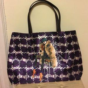 henri bendel Handbags - Henri Bendel purple Polka dot tote