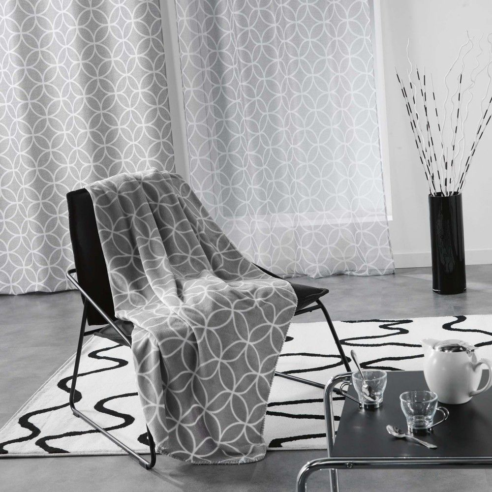 Plaid Flanelle Dario Imprime Rosaces Flanelle Plaid Couverture Et Linge De Maison