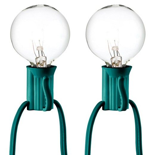 25ct Clear Globe String Lights - Green String - Room Essentials™ : Target