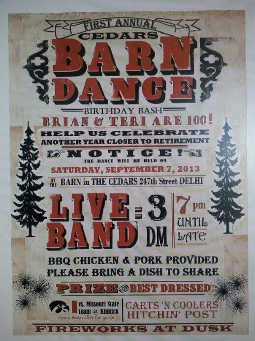 Our barn dance invitation! | Barn dance, Country dance ...
