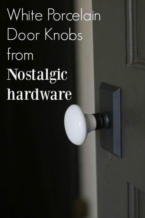 white porcelain door knobs from Nostalgic Warehouse | Nostalgic ...