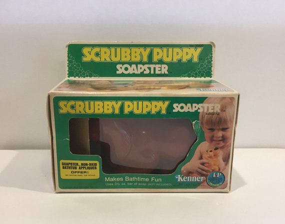 Scrubby Puppy Vintage Bath Toy Vintage Toy Soapster Kenner