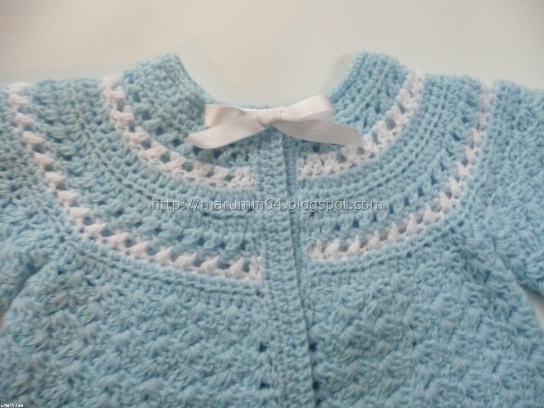 Abrigadita chaquetita para recién nacido a dos colores.... Canesú ... a6dc4046fc4c