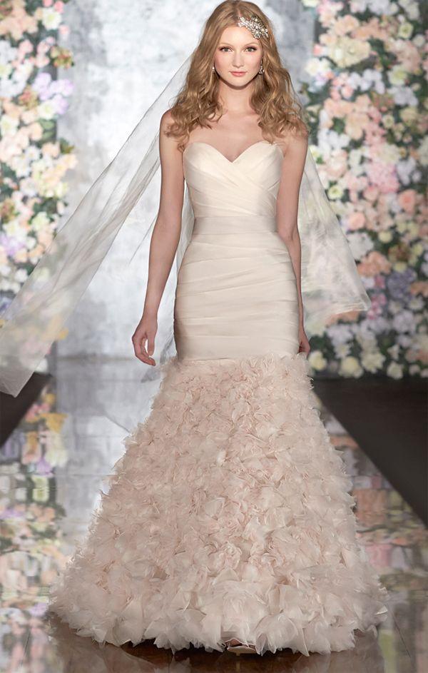vestido de novia rosado | Bodas | Pinterest | Vestidos de novia ...
