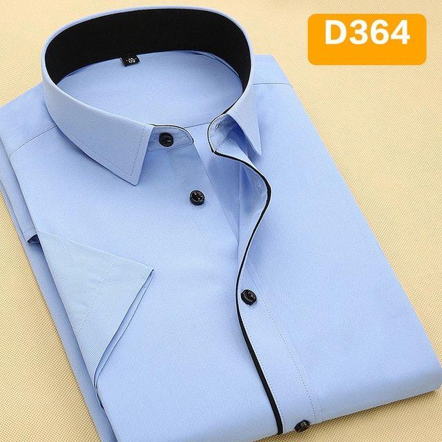 4321564d2c017 Davydaisy 2019 New Summer Men Shirt Short Sleeved Fashion Solid ...