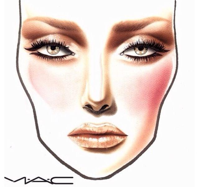 Mac Makeup Color Chart Make Up Mac Face Charts Makeup Face