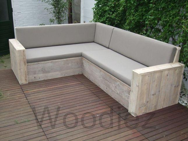≥ steigerhout loungeset loungestoel met loungebank lounge tuin