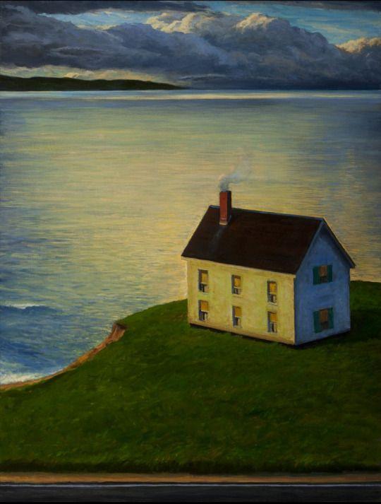 Häuser am Meer by Mark Beck