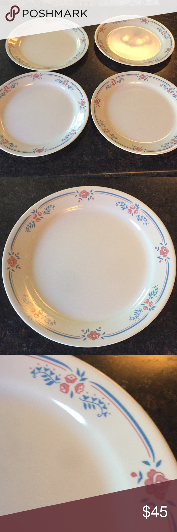 4 Corelle Embroidery Dinner Plates 10 1 4 With Images Corelle Dinnerware Dinner Plates Corelle