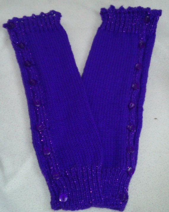 Knitted and buttoned leg warmers by MySpellboundDesigns on Etsy, £10.99