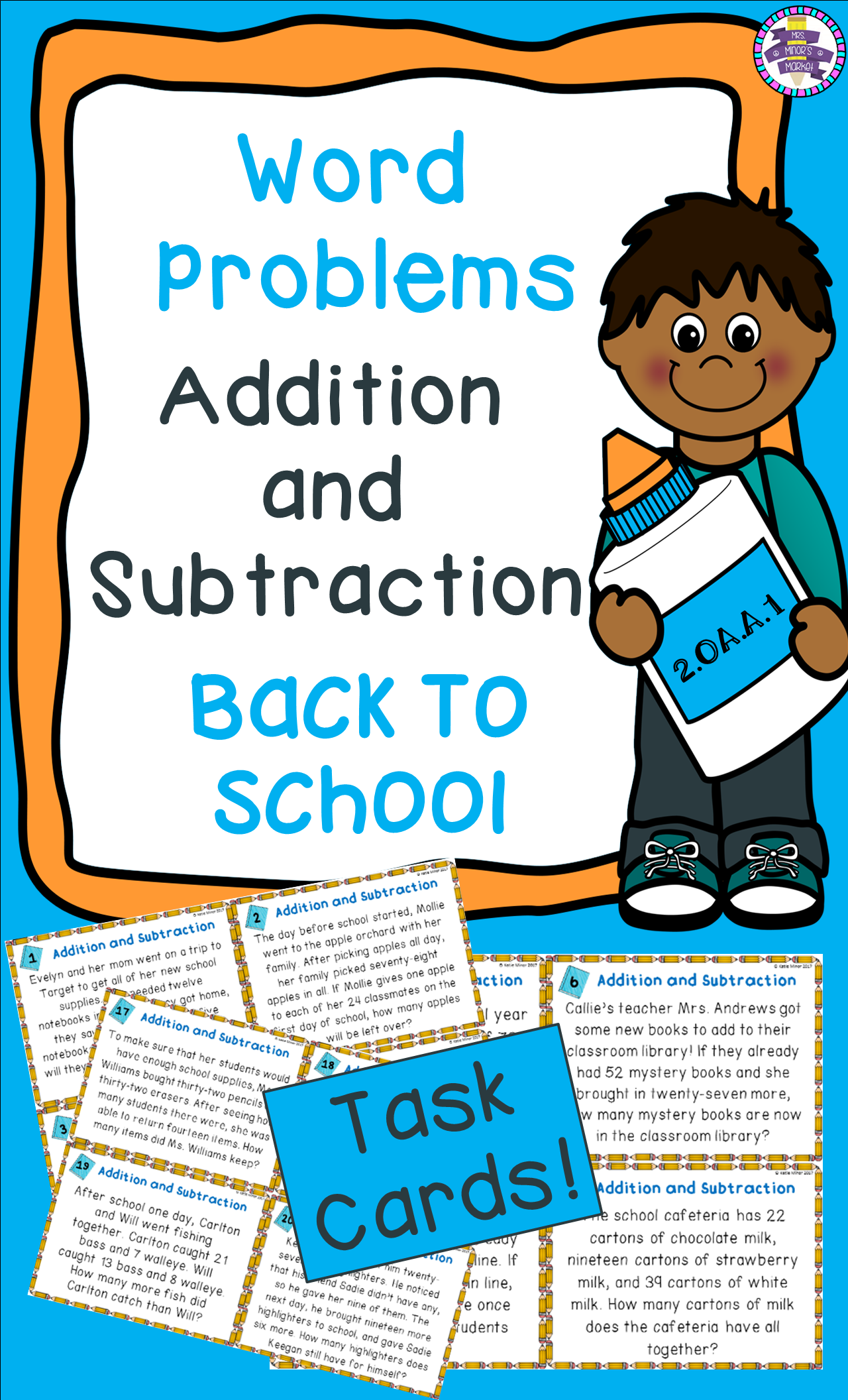 Back To School Addition And Subtraction Word Problem Task