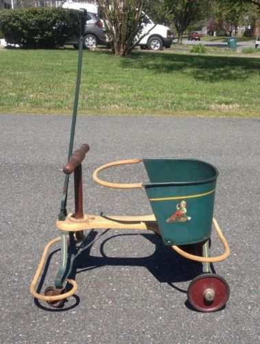 Baby Carriages & Buggies Antique Kiddie Kar Baby Stroller Walker