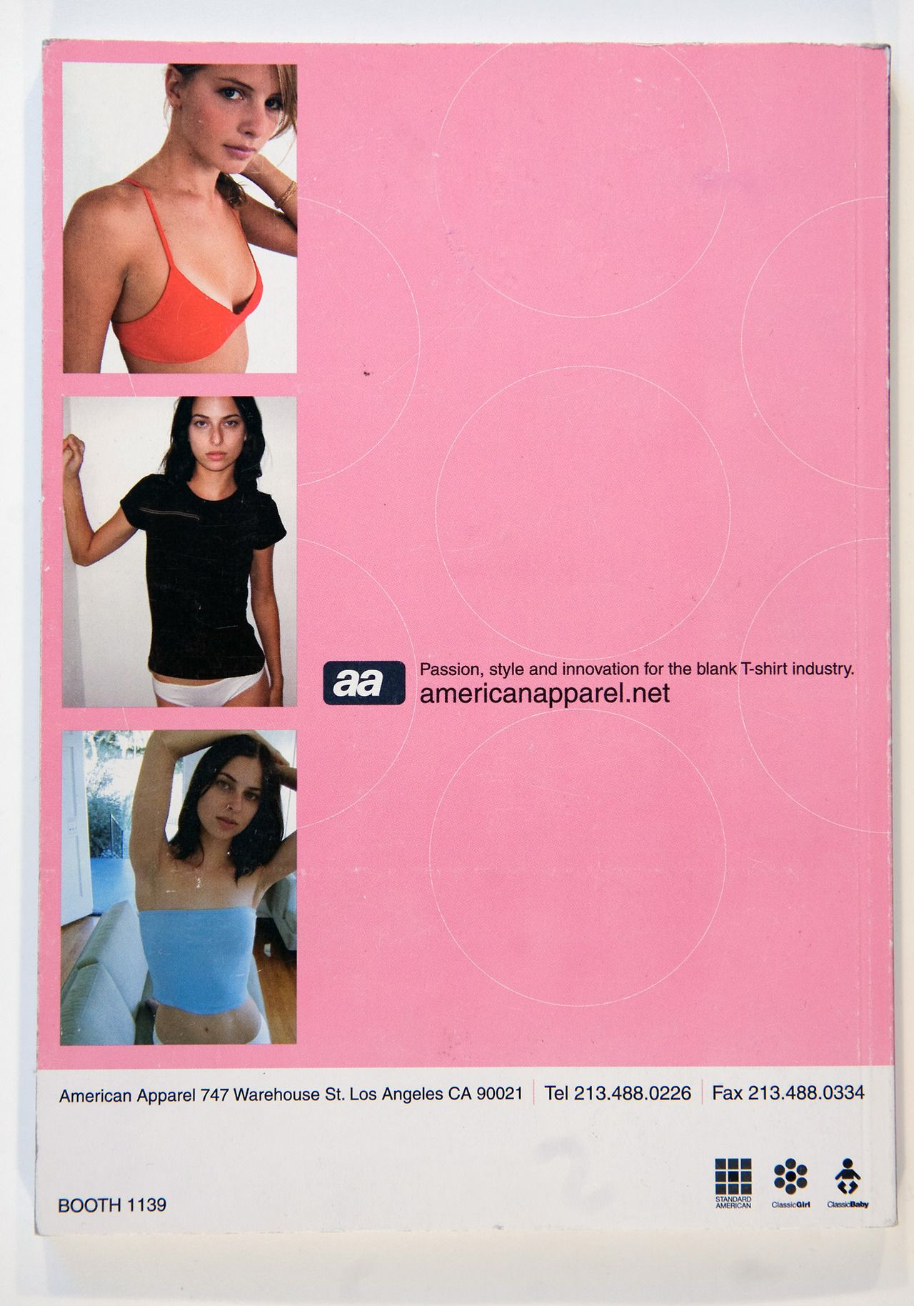 americanapparel:  Classic apparel: a print ad from 1999.