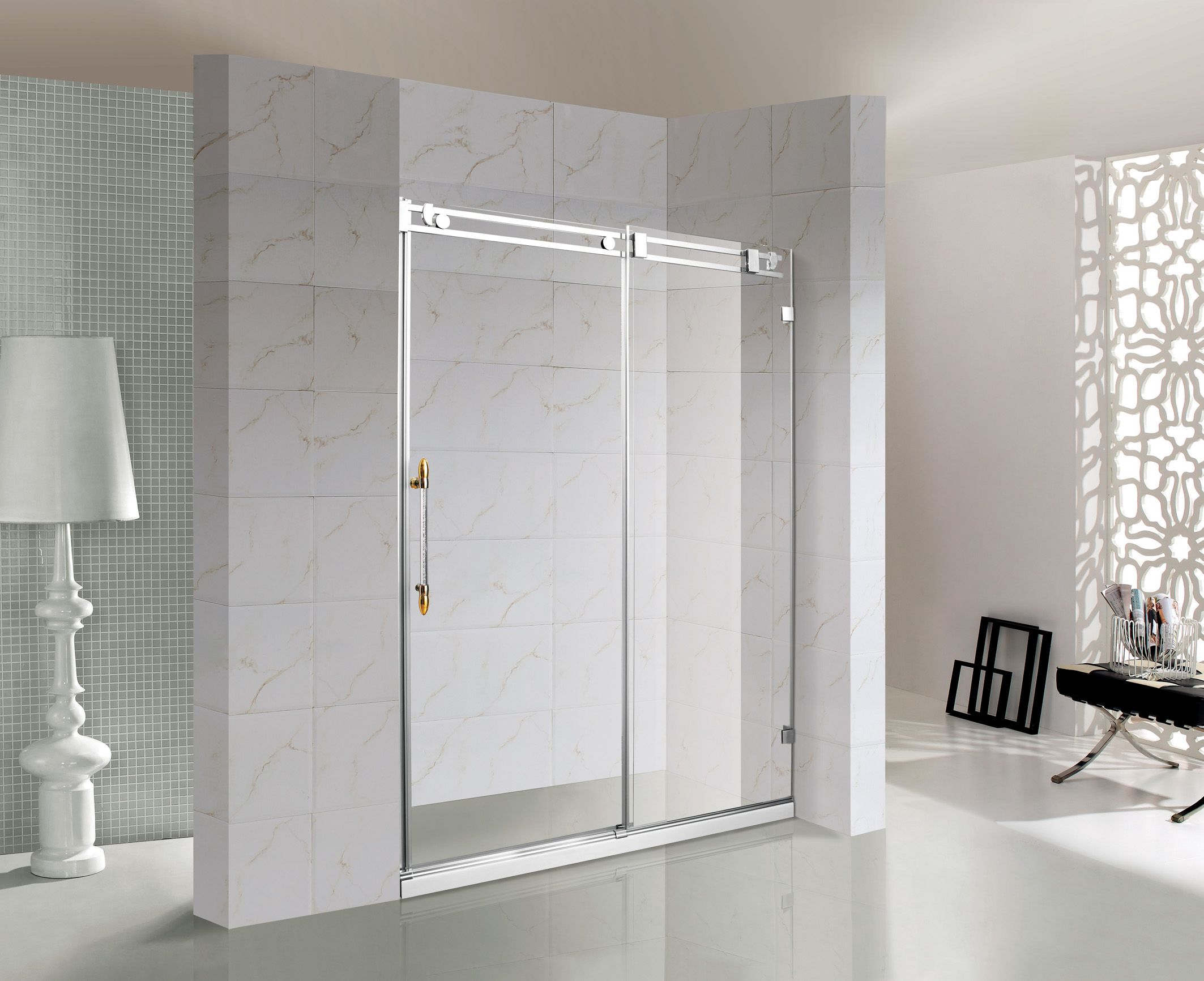 Sd10b 150 This Rolling Shower Door Is Made Of 10mm Thick Tem