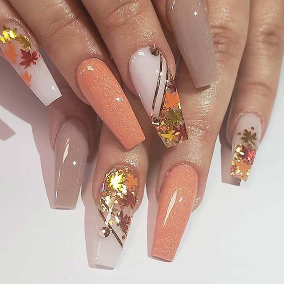 40 Acrylic Coffin Nails Inspiration for Fall | GIF