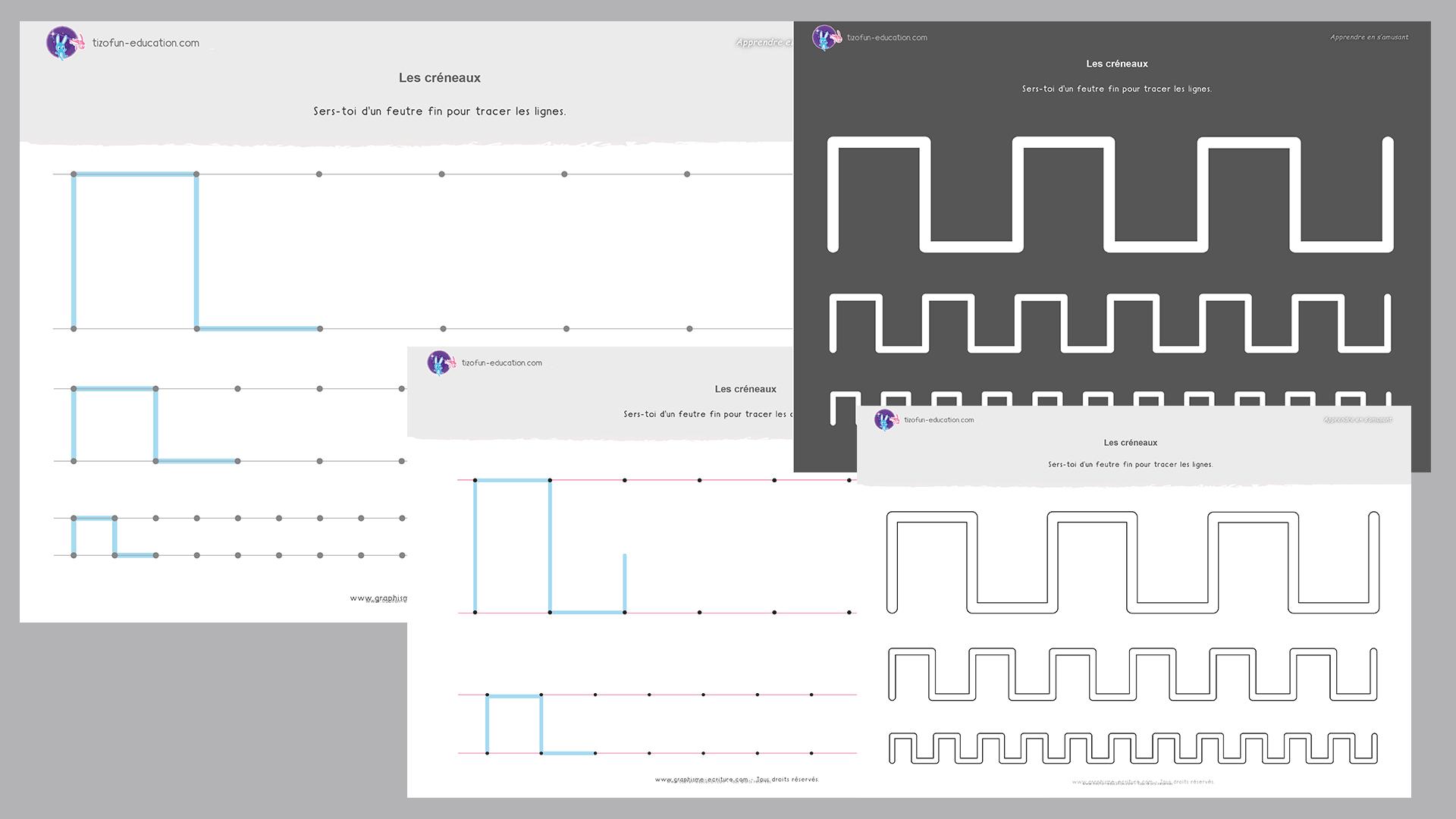 26 pdf fiche maternelle gs graphisme creneaux a imprimer graphisme pinterest fiche. Black Bedroom Furniture Sets. Home Design Ideas