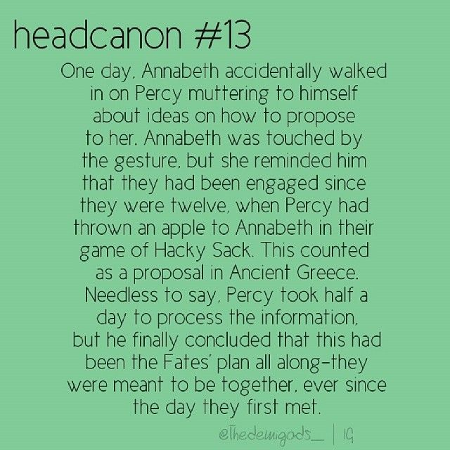 Wow, Percy and Annabeth have been engaged since 12.