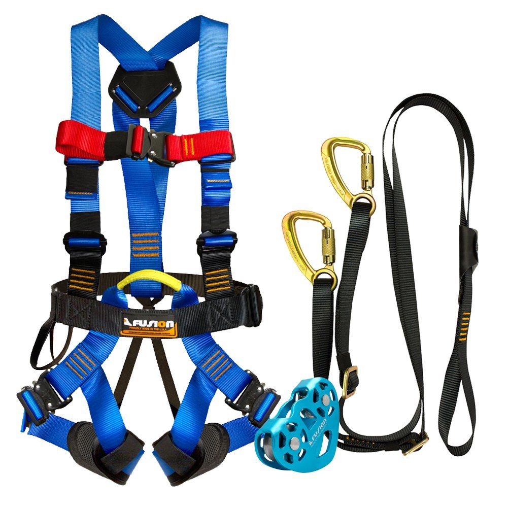 fusion climb pro backyard zip line kit fk a hlt 04 harness lanyard