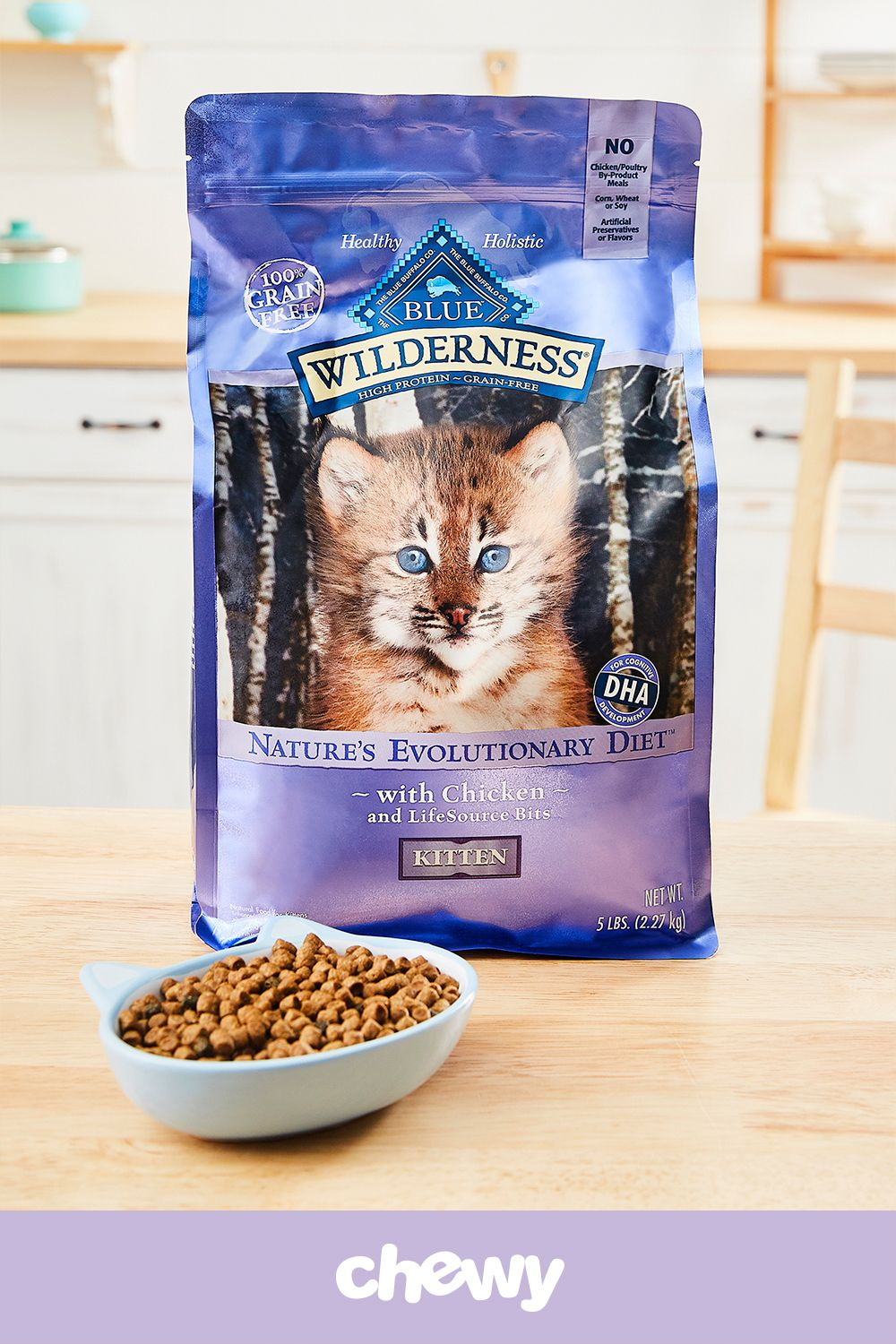Feed Your Growing Kitty S Wild Side With Blue Buffalo Wilderness Kitten Chicken Recipe Grain Free Dry Cat Food Made With Real Dry Cat Food Food Best Cat Food