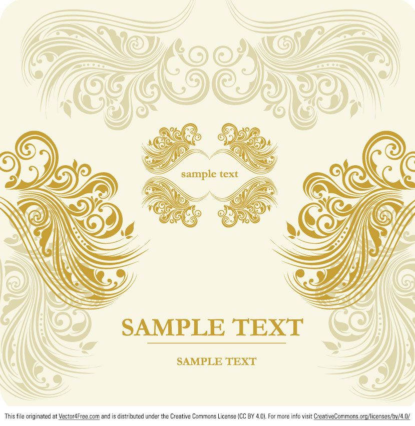 Download this ornamental vector banner and use it for free you download this ornamental vector banner and use it for free you can use this gold bannerwedding invitation stopboris Image collections
