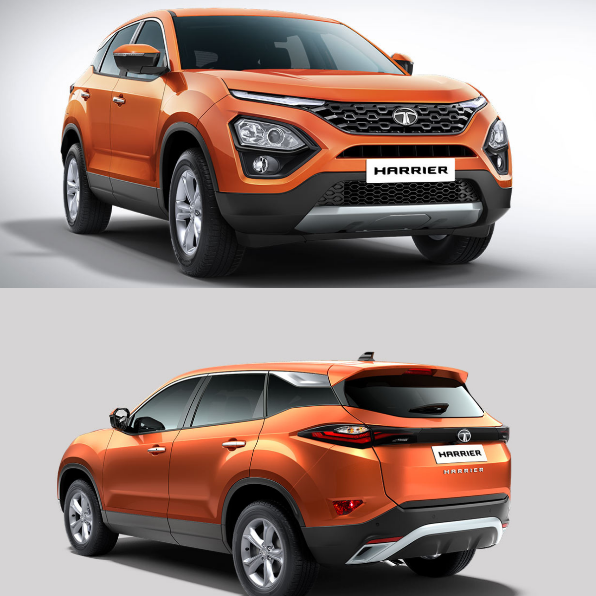Tata Harrier Showcased From Outside Tata Cars Harrier Tata