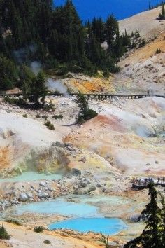 Lassen Volcanic National Park Home To All 4 Volcano Types Mineral Ca California Coast Northern California Seen