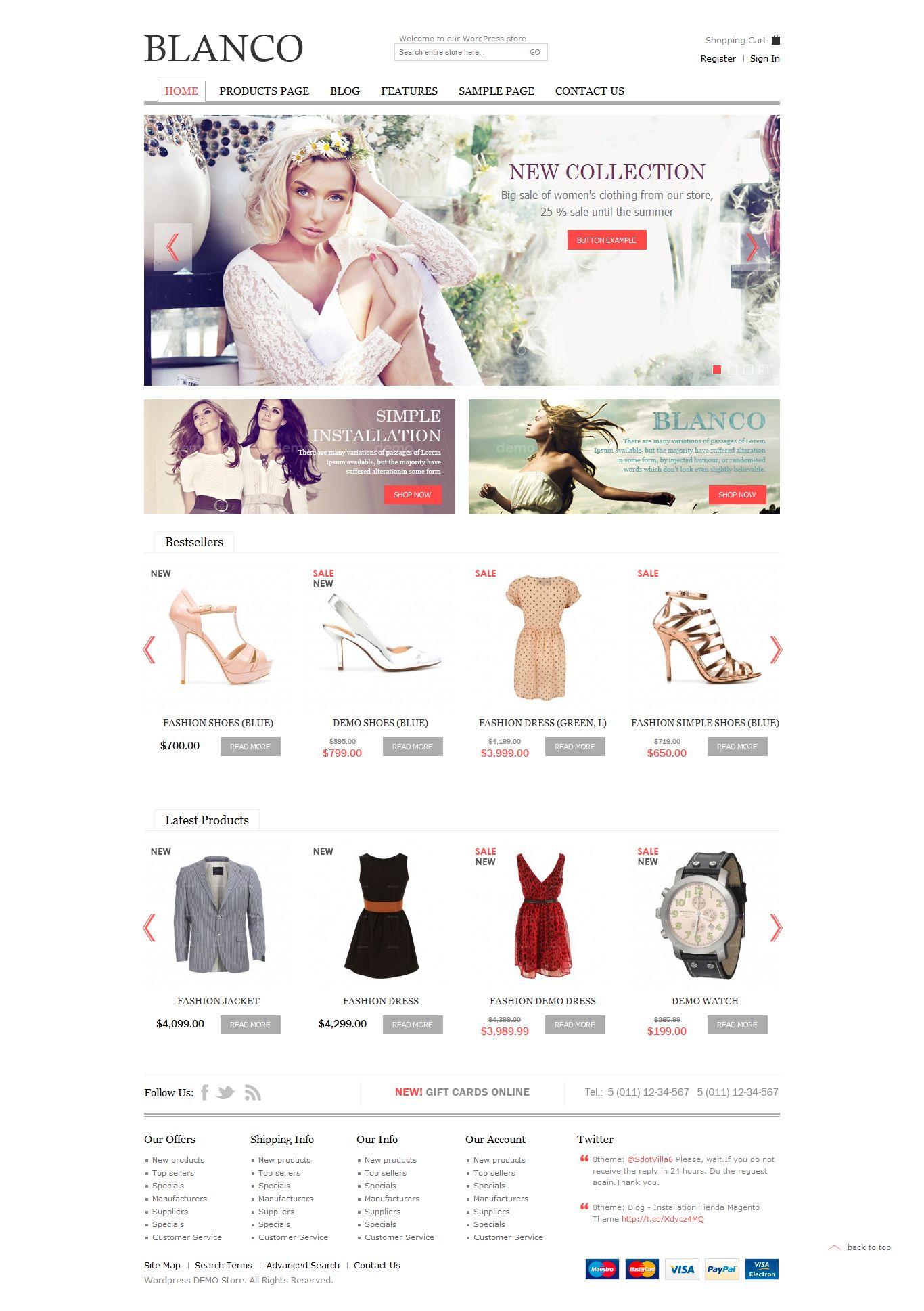Blanco - Responsive WordPress Woo/E-Commerce Theme • Download ...