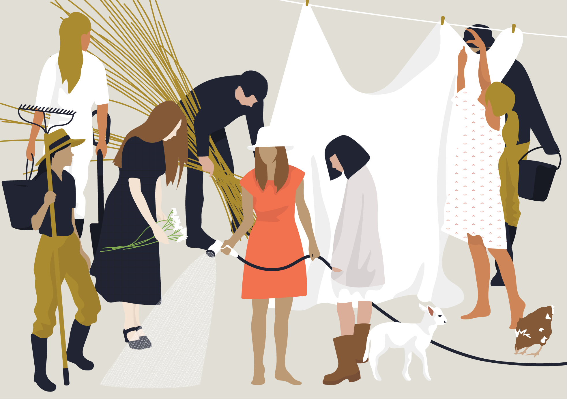 Flat Vector People Working At Farm Vector Illustration People People Png People Illustration