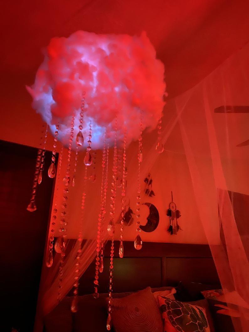 Led Cloud Chandelier Red Room Decor Beautiful Bedroom Decor Red Lights Bedroom