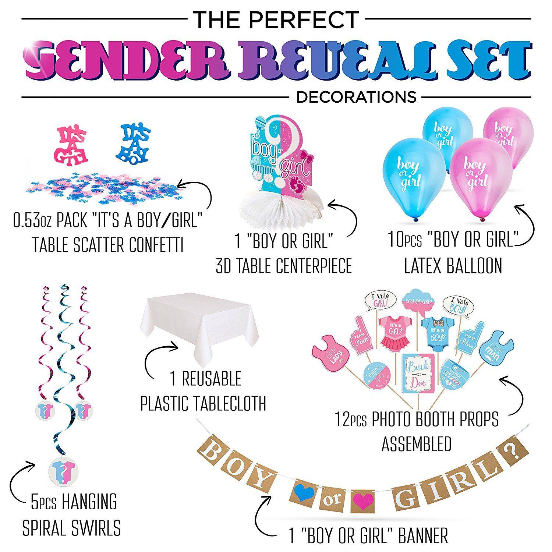 Amazoncom Artit Gender Reveal Party Decoration Supplies Baby Shower Pregnancy