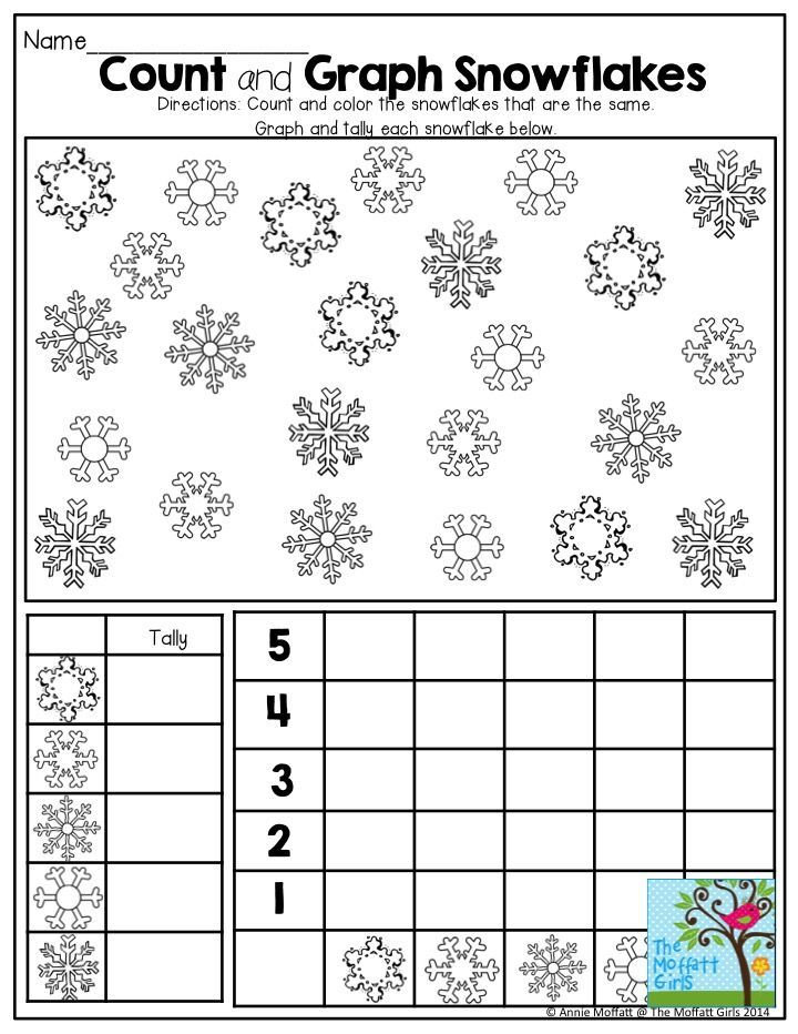 Count and Graph Snowflakes- I love how this activity makes