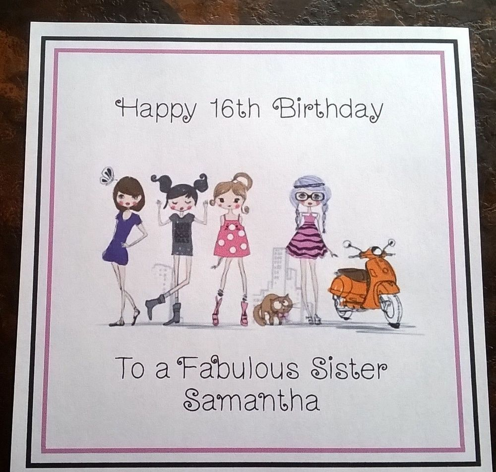 Handmade Personalised Birthday Card ANY AGE Girl Sister Cousin Niece Friend 65th