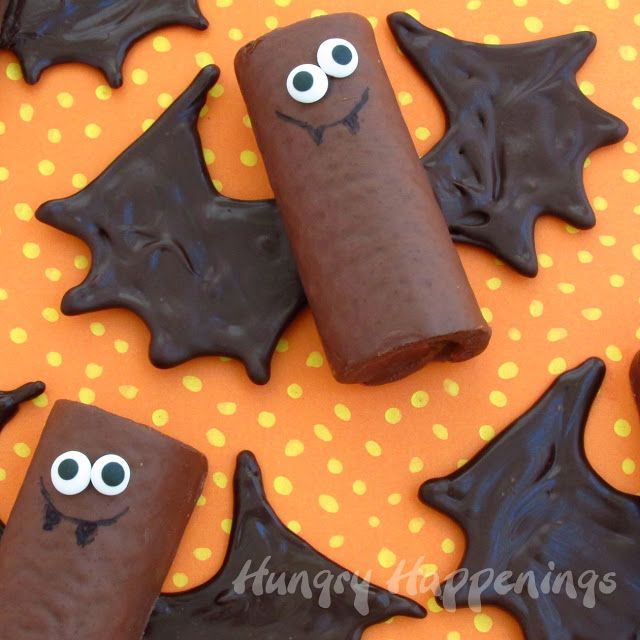 Hungry Happenings Chocolate snack cake bats make sweet treats for - halloween baked goods ideas