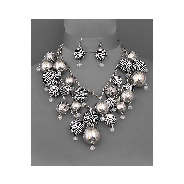 Amethyst Necklace and Earrings Set via Polyvore