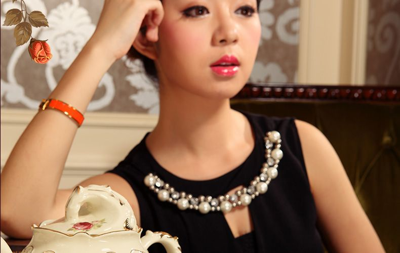 Aliexpress.com: Comprar De gama alta taza de café de cerámica juegos de té de porcelana merienda francés bandeja de té regalos 2028 de regalo de España fiable proveedores en China Ceramics Town
