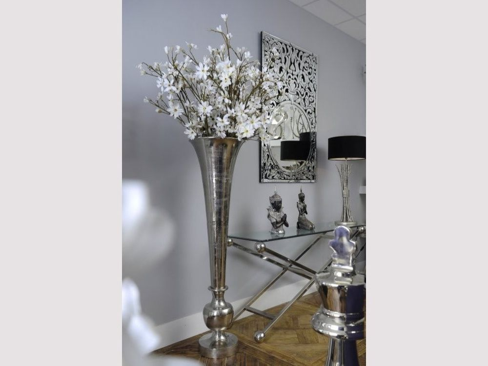 The Tall Fluted Metal Vase Is Part Of Our Range Vases