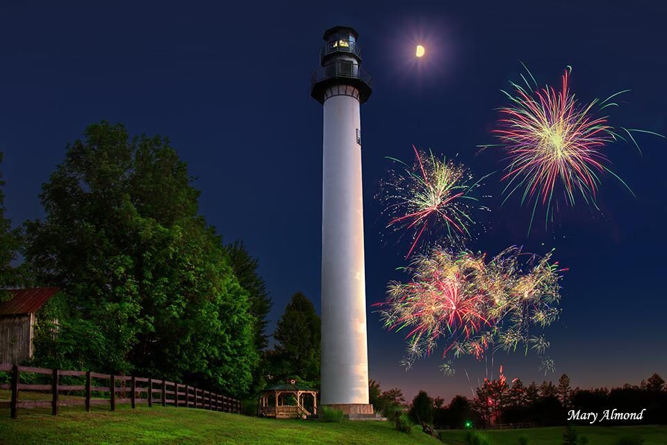 4th of july fireworks finale at summersville wv by the