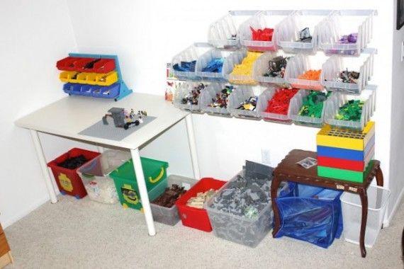 36 Idees Astuces Pour Le Rangement Des Lego Organisation De Lego Rangement Lego Rangement Jouet