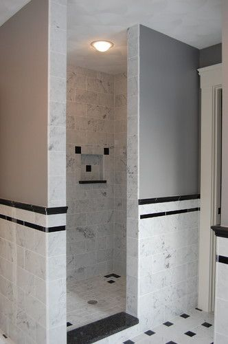 walk in showers about Shower No Doors on Pinterest Bathroom