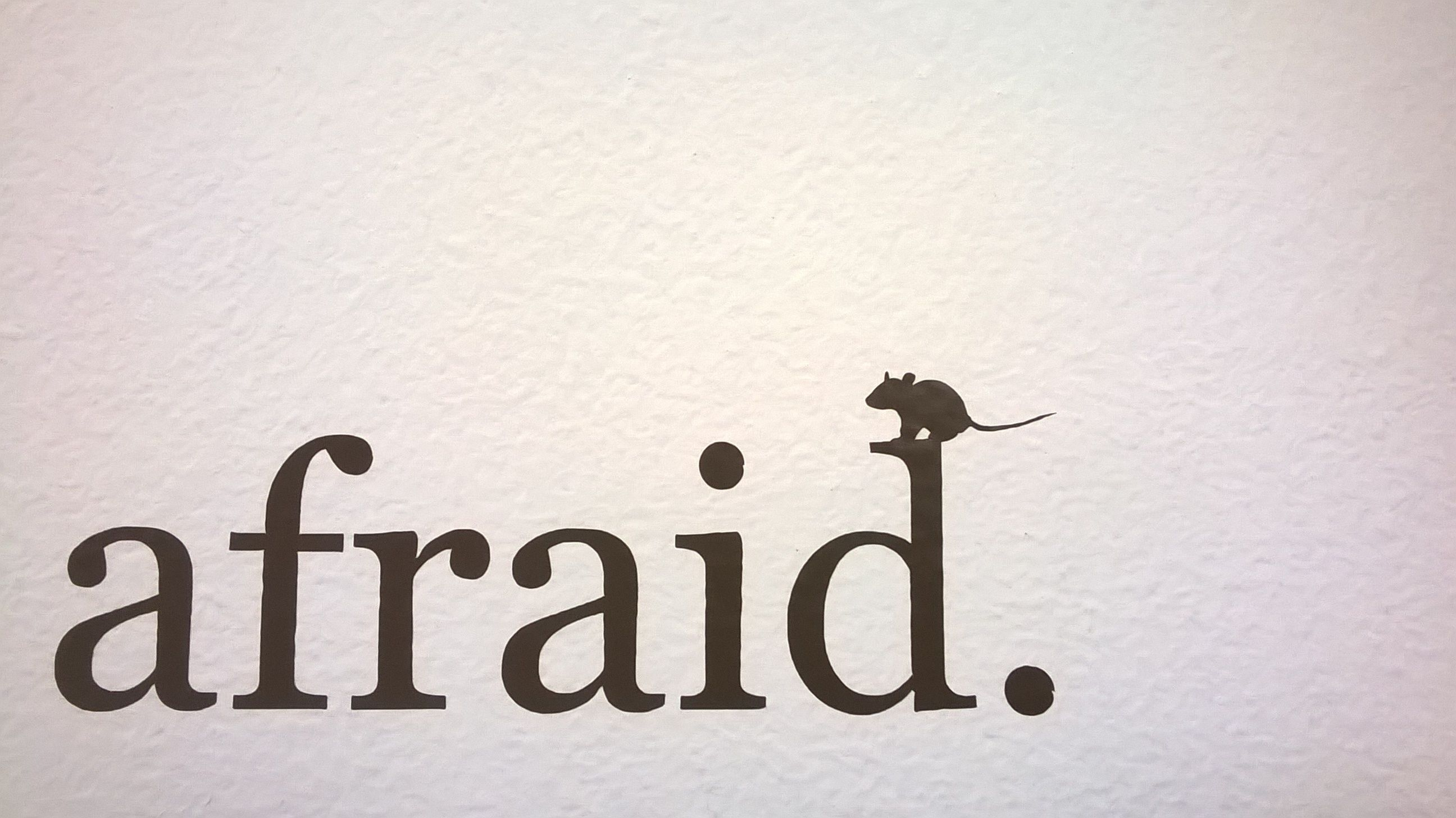 Afraid fear fright scared text type font