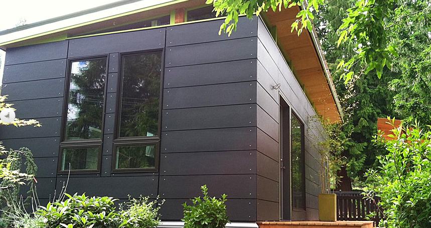 Modern granny flat world at home pinterest granny for Modern shed siding