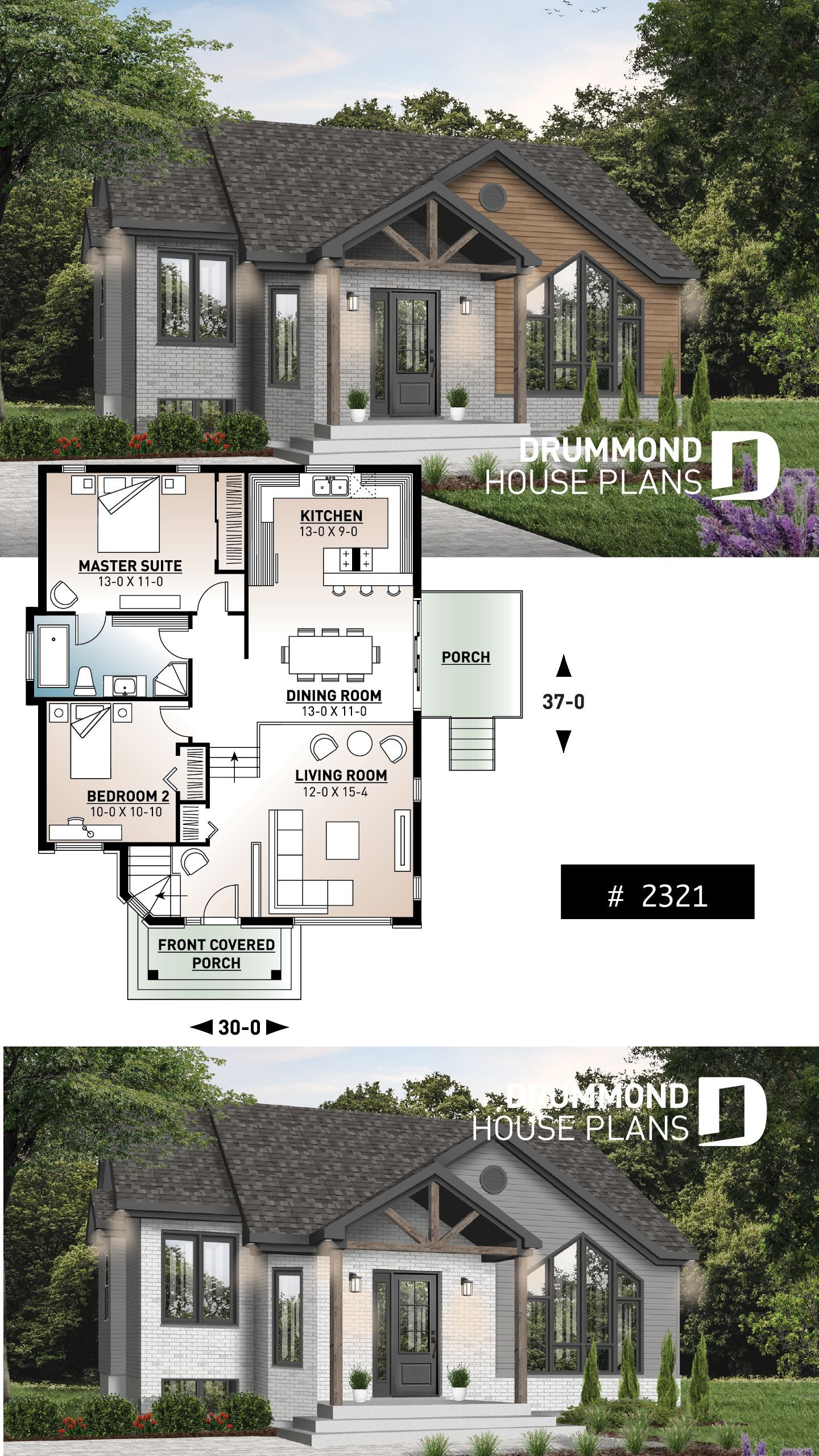 Discover The Plan 2321 Isaie Which Will Please You For Its 2 Bedrooms And For Its Contemporary Styles House Plans Sims House Plans Dream House Plans