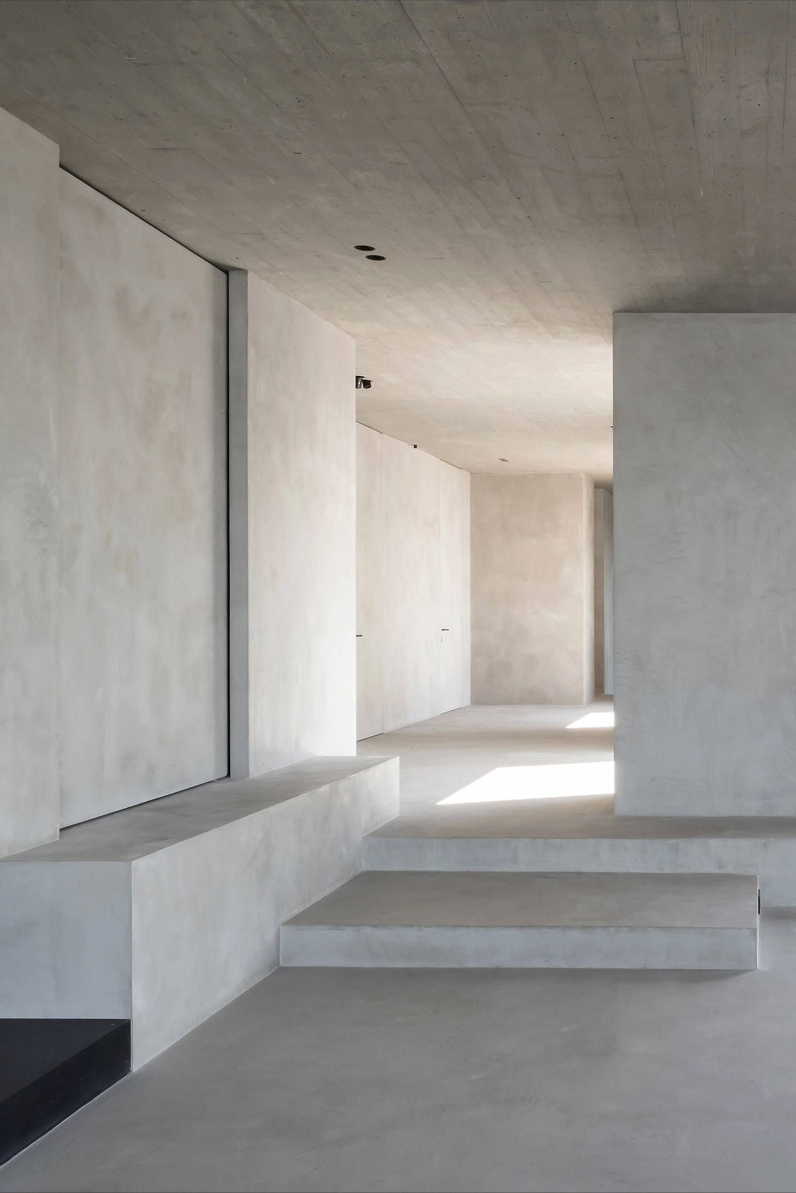 White Concrete Interior Design