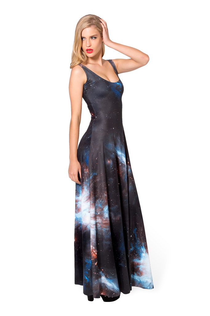 3f256210832 Galaxy Black Maxi Dress by Black Milk Clothing