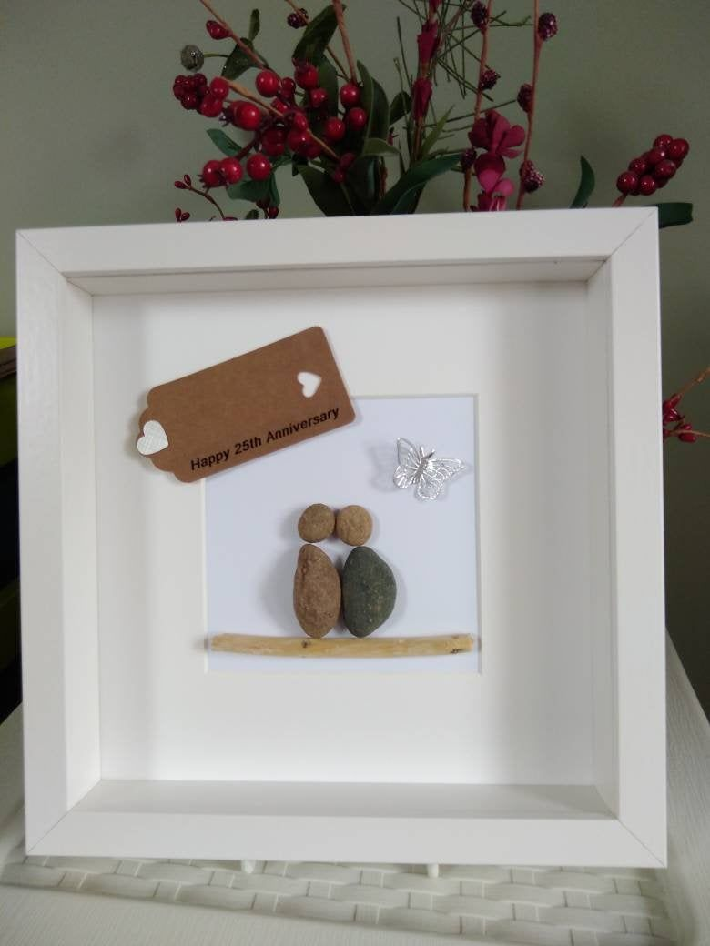 25th Silver Wedding Anniversary gift for parents friends