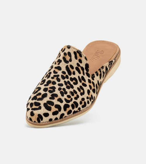 c053f570dd2e Camel Leopard Pony Madison Mule - Rollie Nation USA - Leopard animal print  travel flats comfortable walking shoes