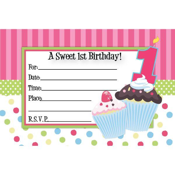nice cupcake birthday invitations template bagvania invitation
