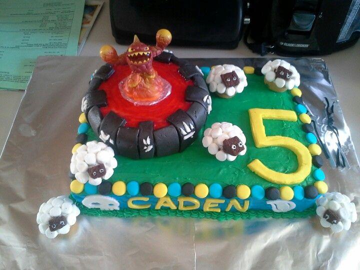 Cadens skylander cake party ideas Pinterest Cake
