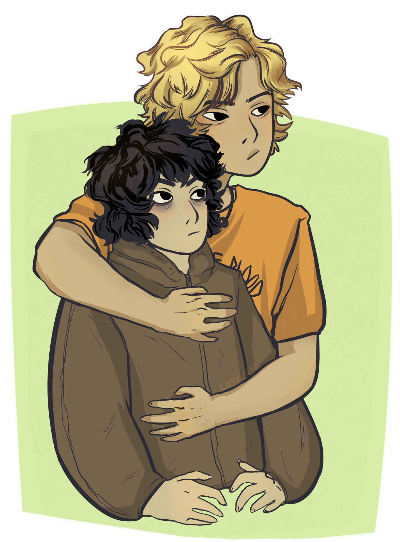 Will getting all possessive around Jason is cute and funny Solangelo
