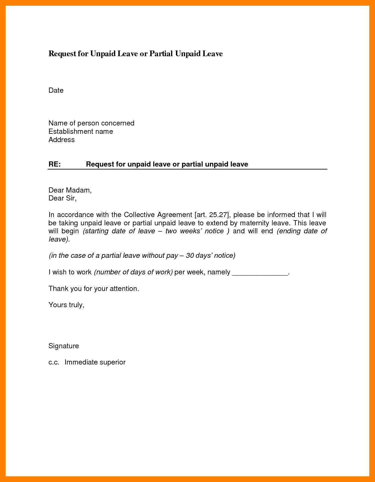 Sample Leave Pictjres Save Leave Request Letter Sample
